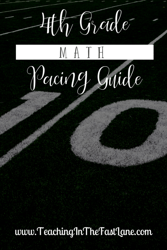 4th Grade Math Pacing Guide – TEKS Based