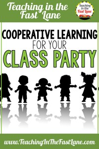 Cooperative learning ideas for your classroom party. These games will keep your elementary students asking for more and giggling throughout your holiday or end of year party.