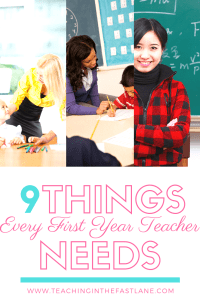 Is the first year of teaching the hardest? It can be without support! Check out this post for suggestions and tips for 9 items that will make your first year in the classroom less stressful and more organized.