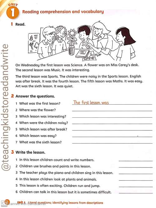 small resolution of English Worksheets for Grade 2 and Grade 3 – Teaching Kids to Read and Write