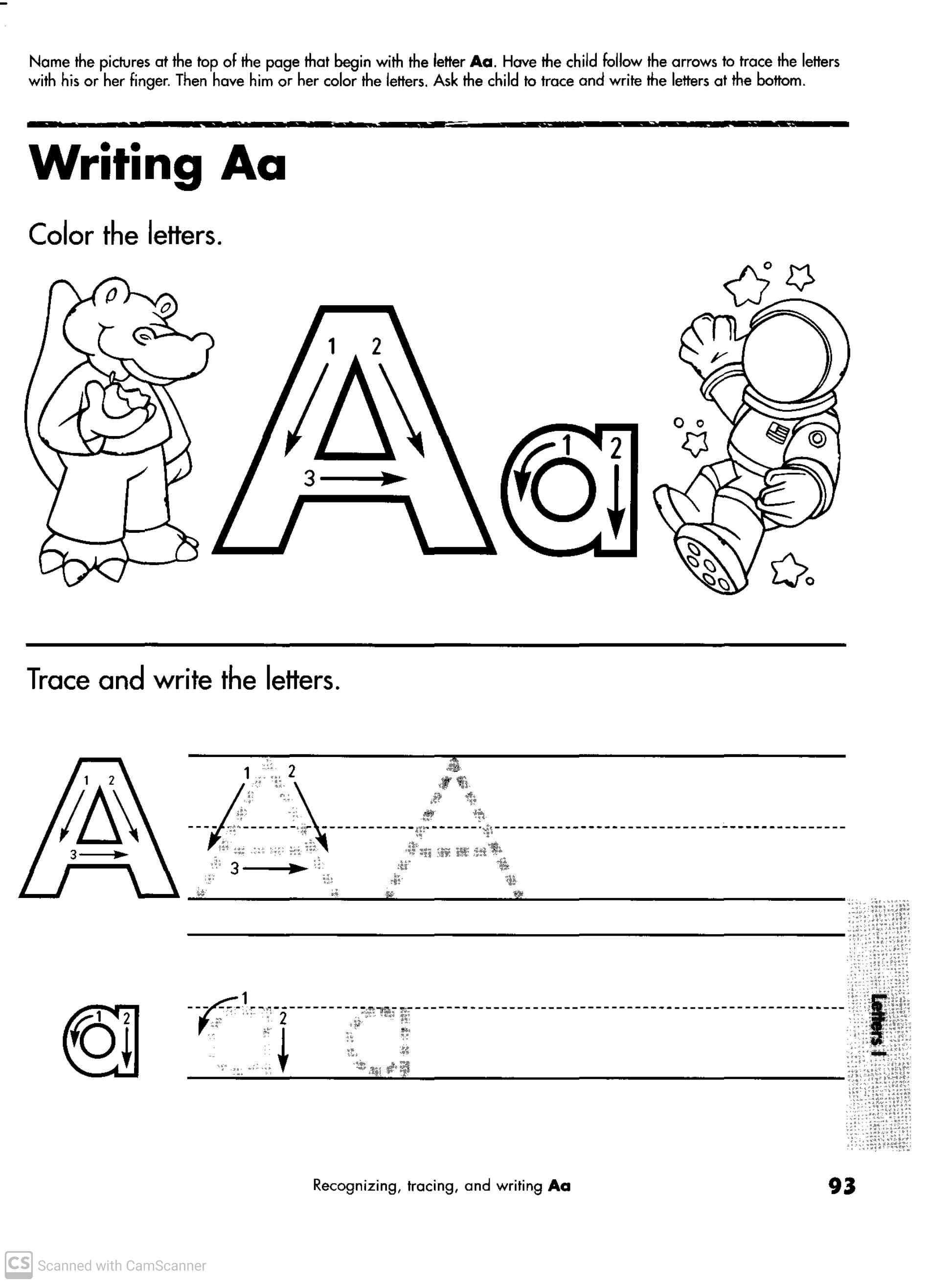 Worksheets For Kindergarten English Alphabet Teaching