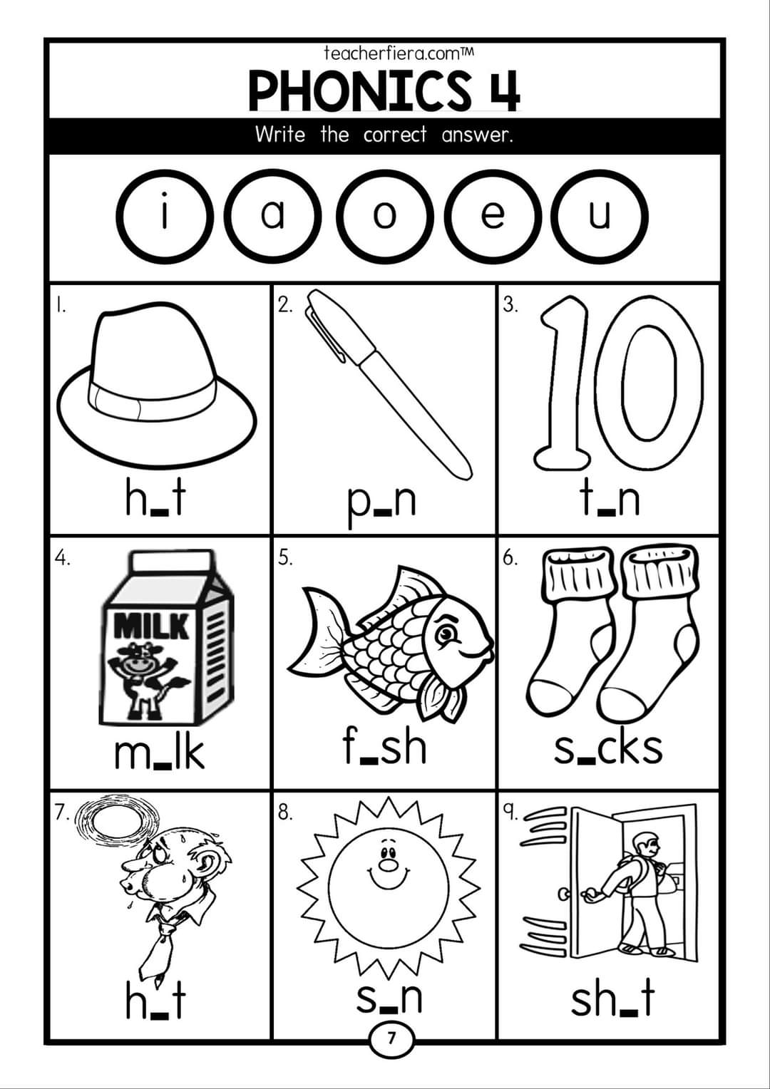 Phonics Worksheets Cvc Words Blending Sounds Practice