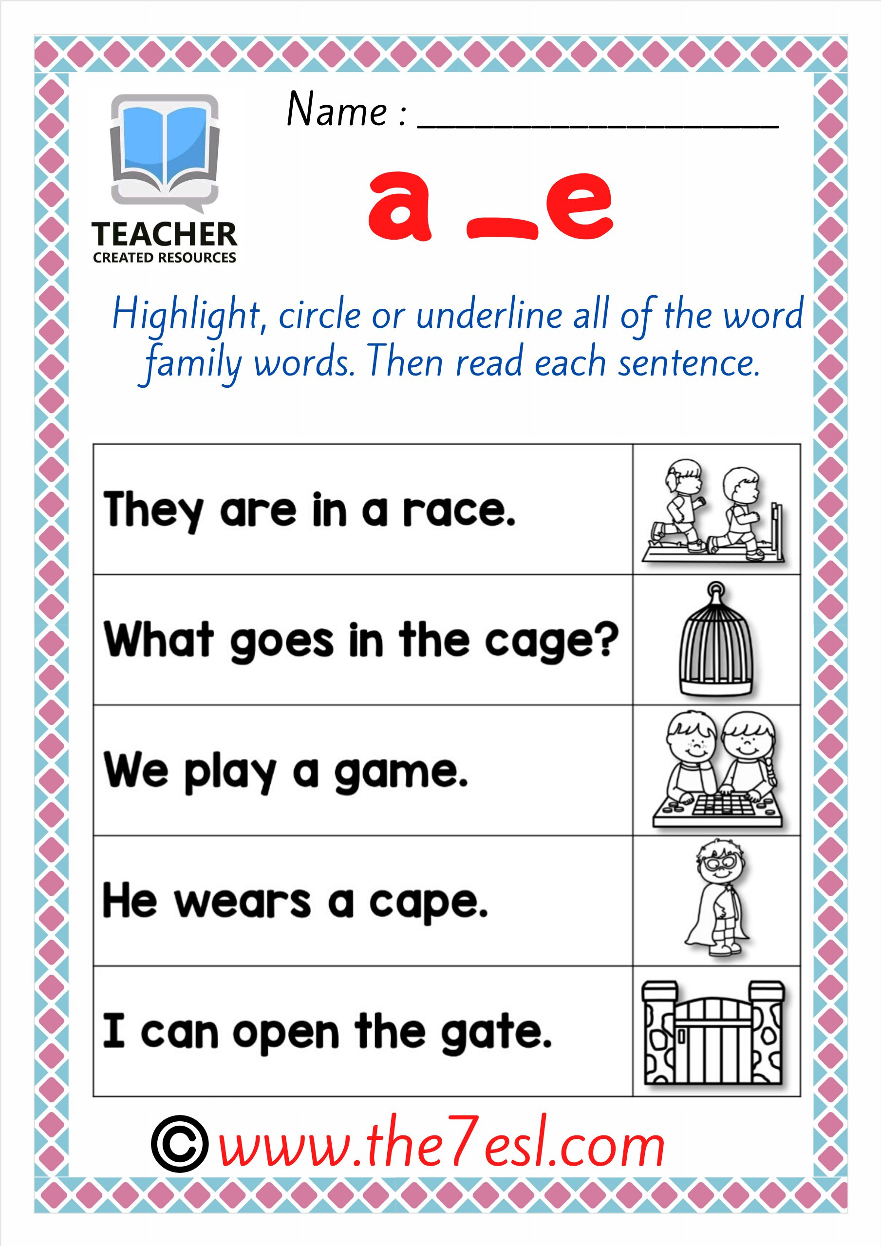 Phonics Sentence Long Vowels Teaching Kids To Read And