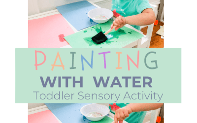 Painting with Water: Toddler Sensory Activity