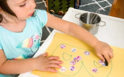 Sticker Letters Activity for Toddler Letter Learning