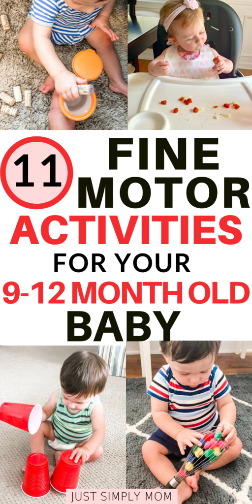 Simple, everyday activities that your baby can do to improve fine motor skills and learn through play. Use everyday objects or toys to practice these skills around the house. Get your infant learning and exploring quickly with activities that you may not realize has a positive impact on their development.