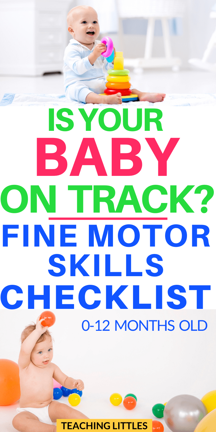 Do you ever wonder what fine motor skills your baby should be able to do? Use this checklist as a guideline to track your baby's development and make sure they're meeting all their milestones accordingly.