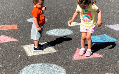 Sidewalk Chalk Shape Learning Game