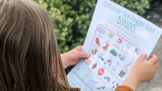 Free Printable Outdoor Scavenger Hunt for Toddlers or Preschoolers