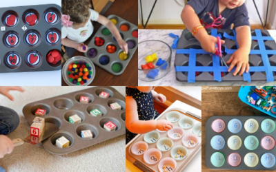 12 Muffin Tin Activities for Learning New Developmental Skills