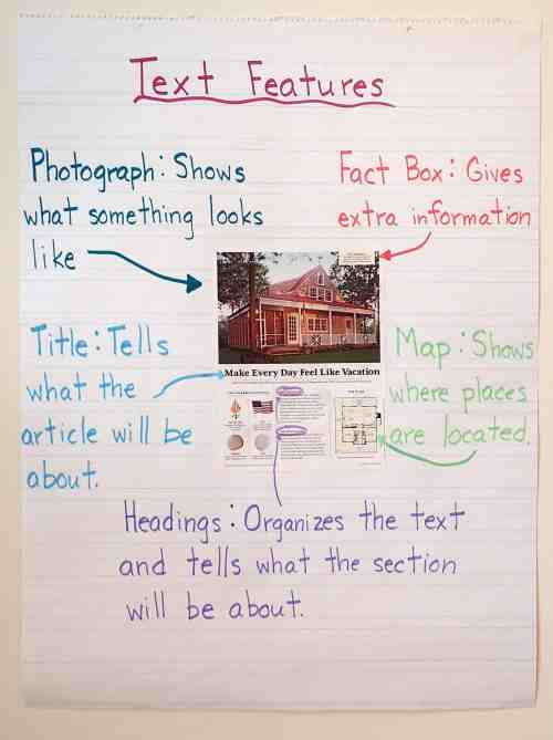 small resolution of Text Features Scavenger Hunt - Teaching Made Practical
