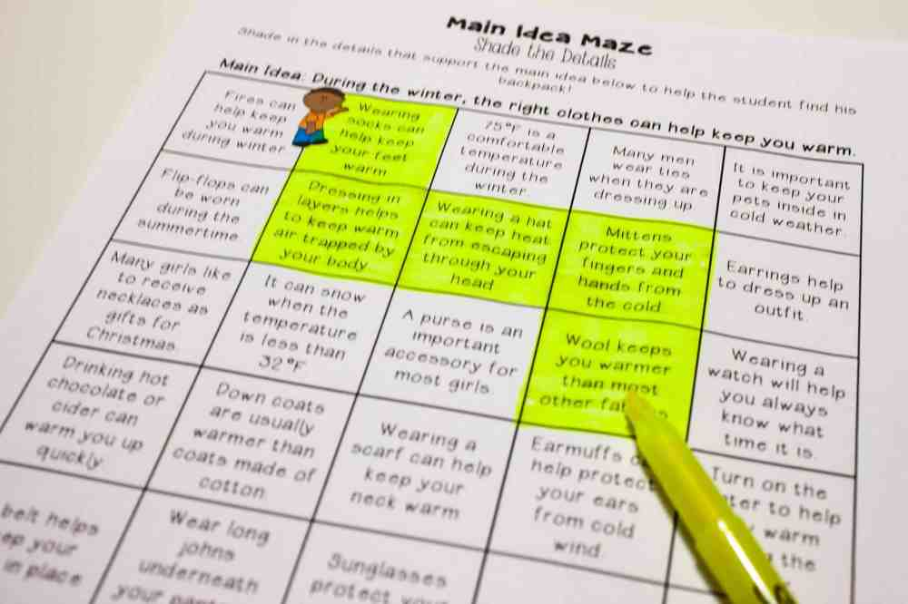 medium resolution of Main Idea Centers for Upper Elementary - Teaching Made Practical