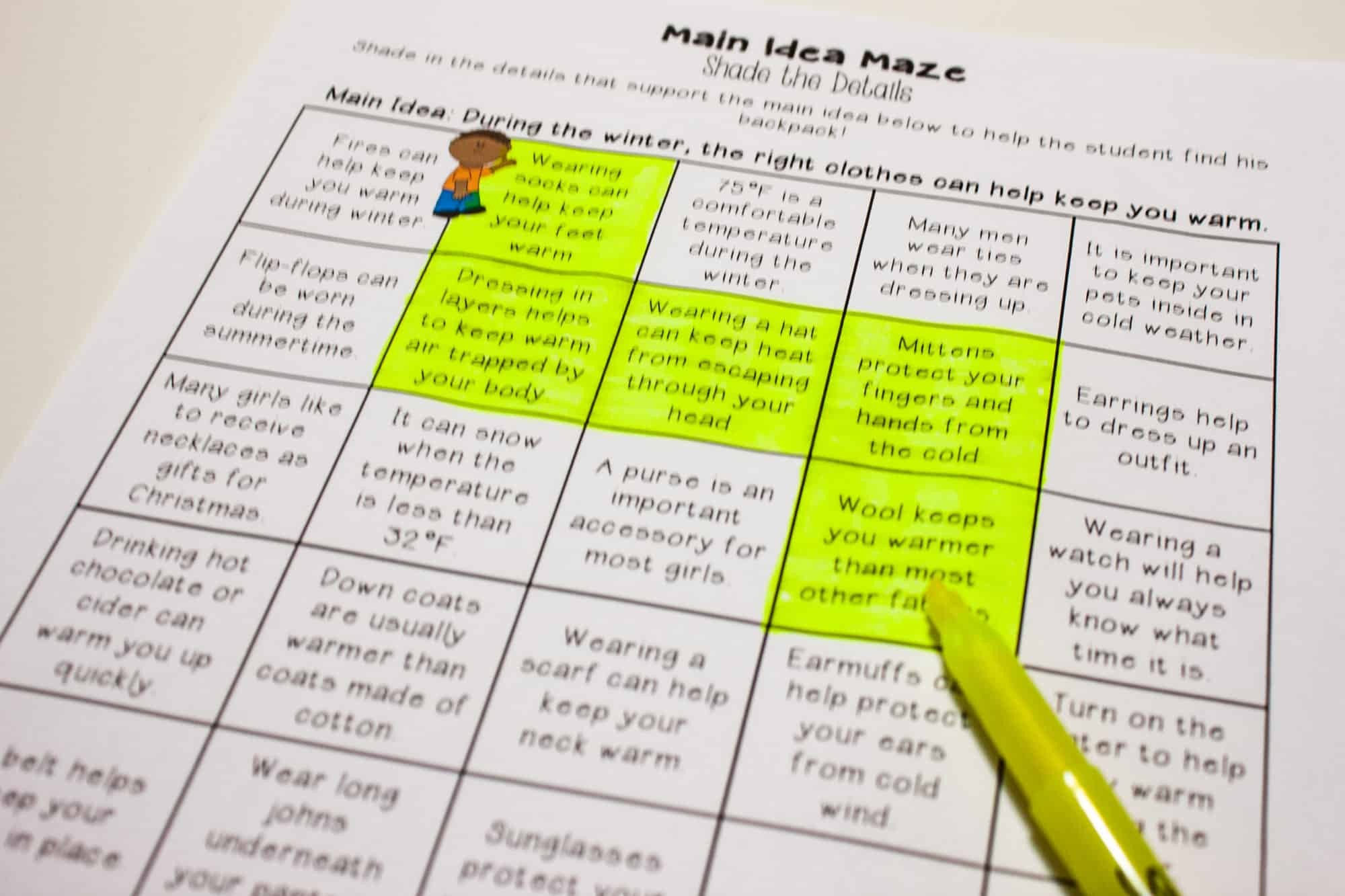hight resolution of Main Idea Centers for Upper Elementary - Teaching Made Practical