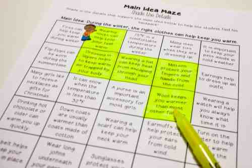 small resolution of Main Idea Centers for Upper Elementary - Teaching Made Practical