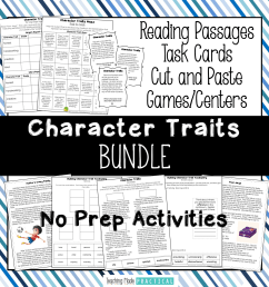 Low Prep Activities to Make Teaching Character Traits Easier - Teaching  Made Practical [ 1687 x 1687 Pixel ]
