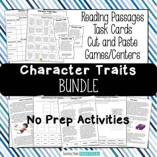 small resolution of Low Prep Activities to Make Teaching Character Traits Easier - Teaching  Made Practical