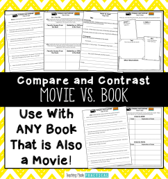 Compare and Contrast A Book and Movie Activities - Teaching Made Practical [ 1687 x 1687 Pixel ]