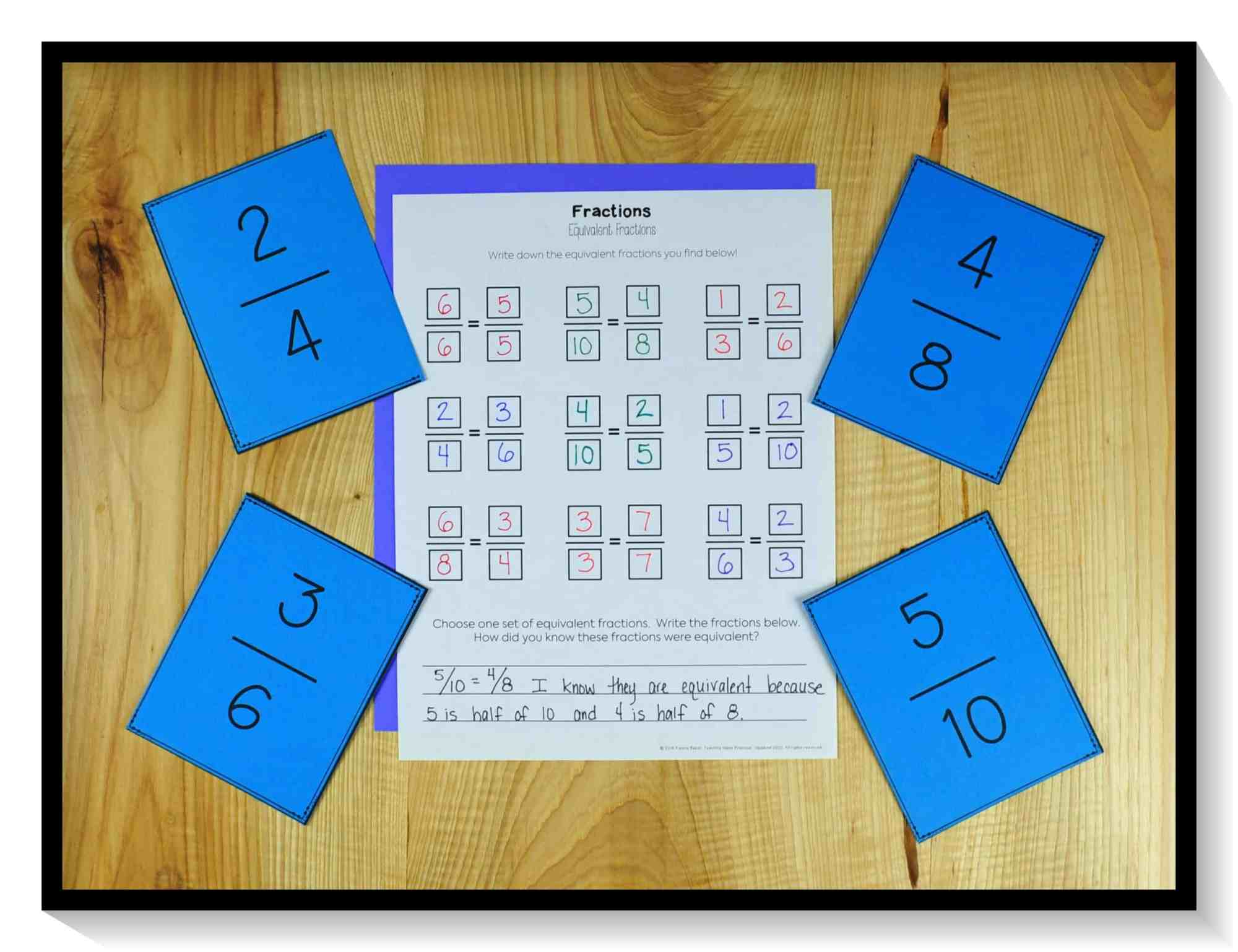 hight resolution of 8 Math Centers Students Can Play Using Fraction Cards - Teaching Made  Practical