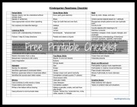 Kindergarten Readiness Checklist - Teaching Mama