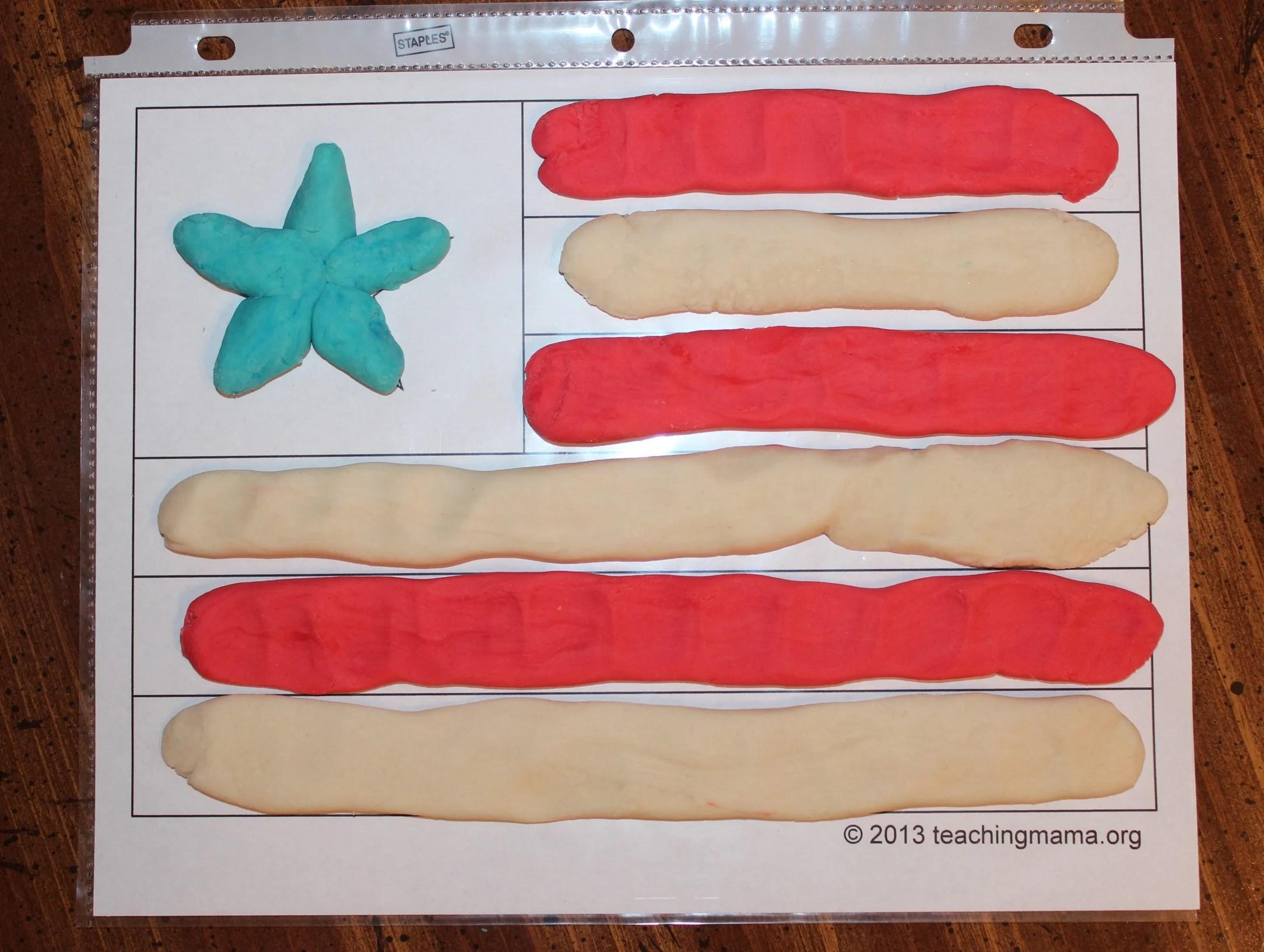 Playdough Flag