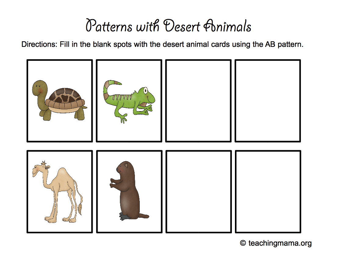 Desert Animal Printables