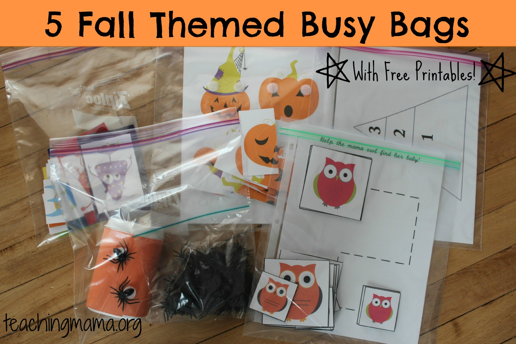5 Fall Themed Busy Bags