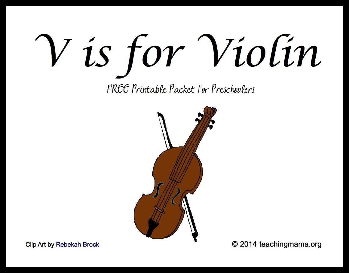 V Is For Violin Letter V Printables