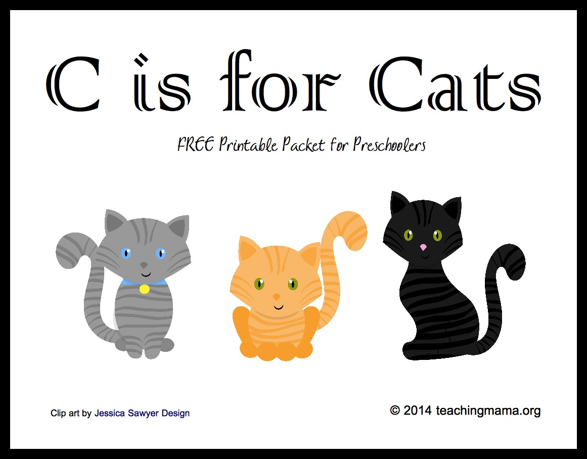 C Is For Cats Letter C Printables