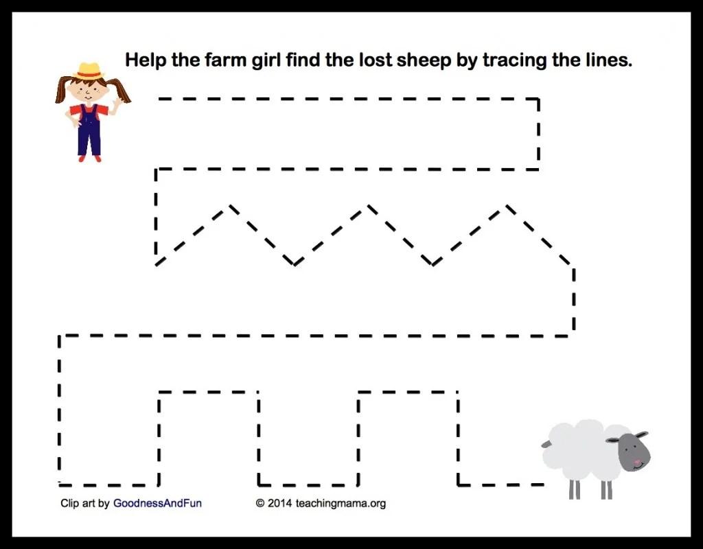 Farm Worksheet Pre K Cutting