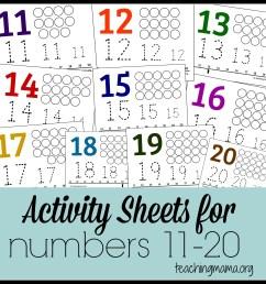 Activities for Numbers 11-20 [ 2066 x 2066 Pixel ]