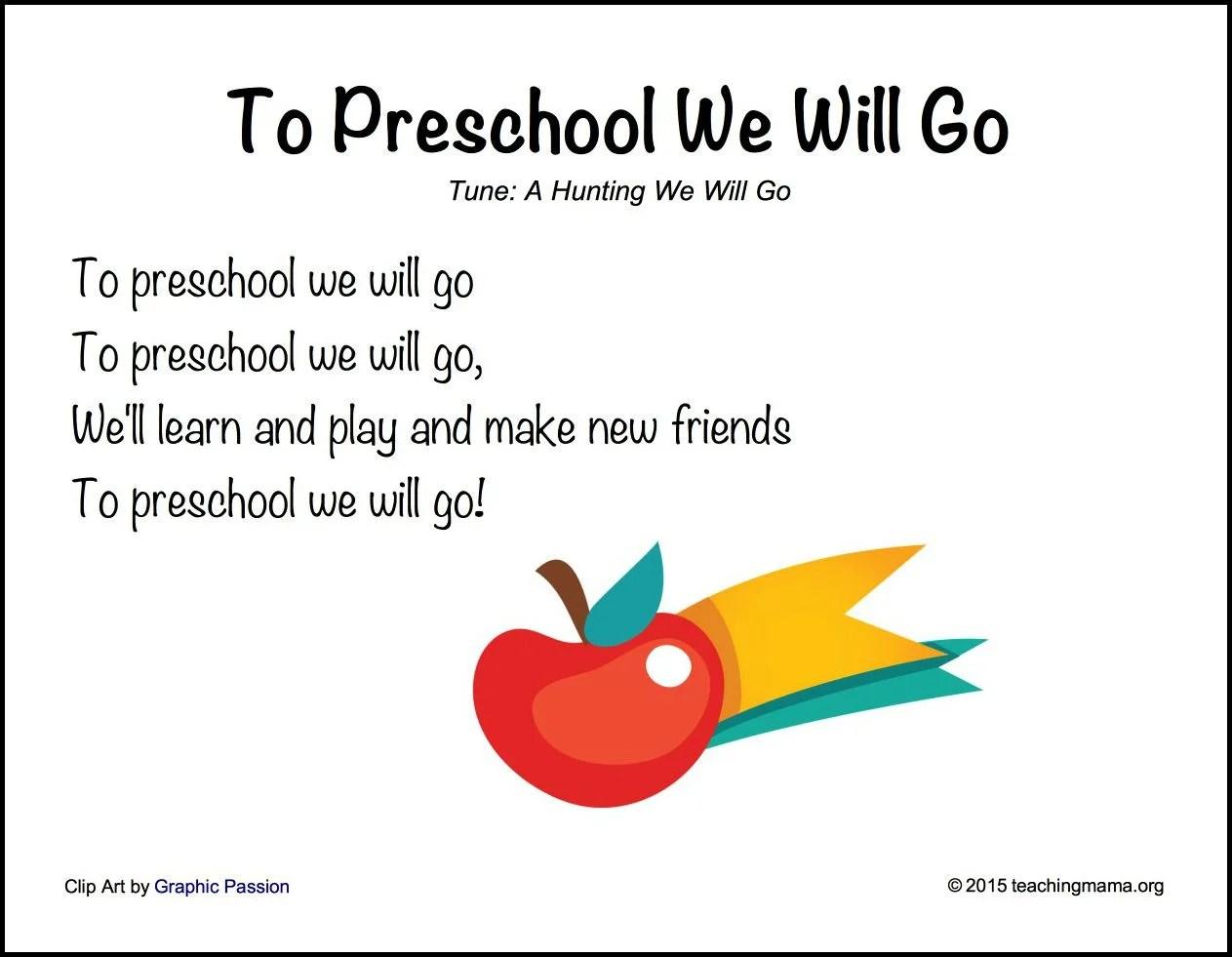 Preschool Welcome Song