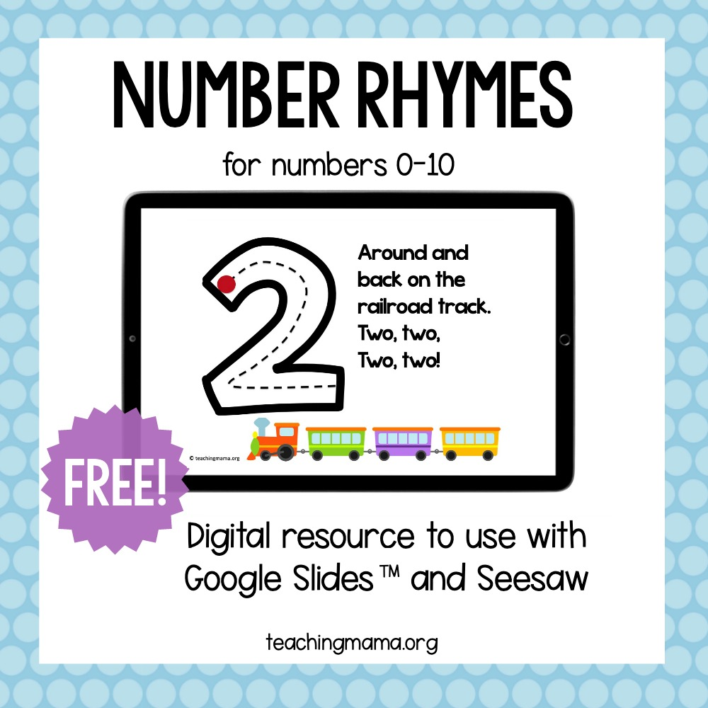 hight resolution of Number Formation Rhymes - Teaching Mama