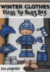 Dress Up Clothes for Winter Preschool Crafts