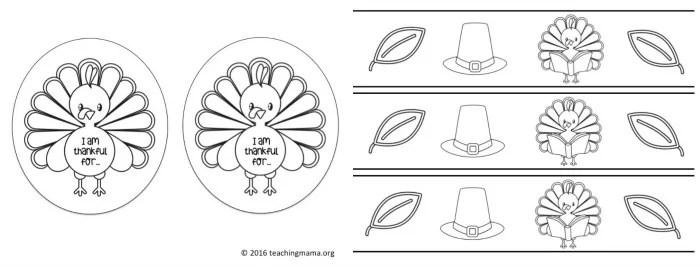 Paper Headband Turkey Cut Out