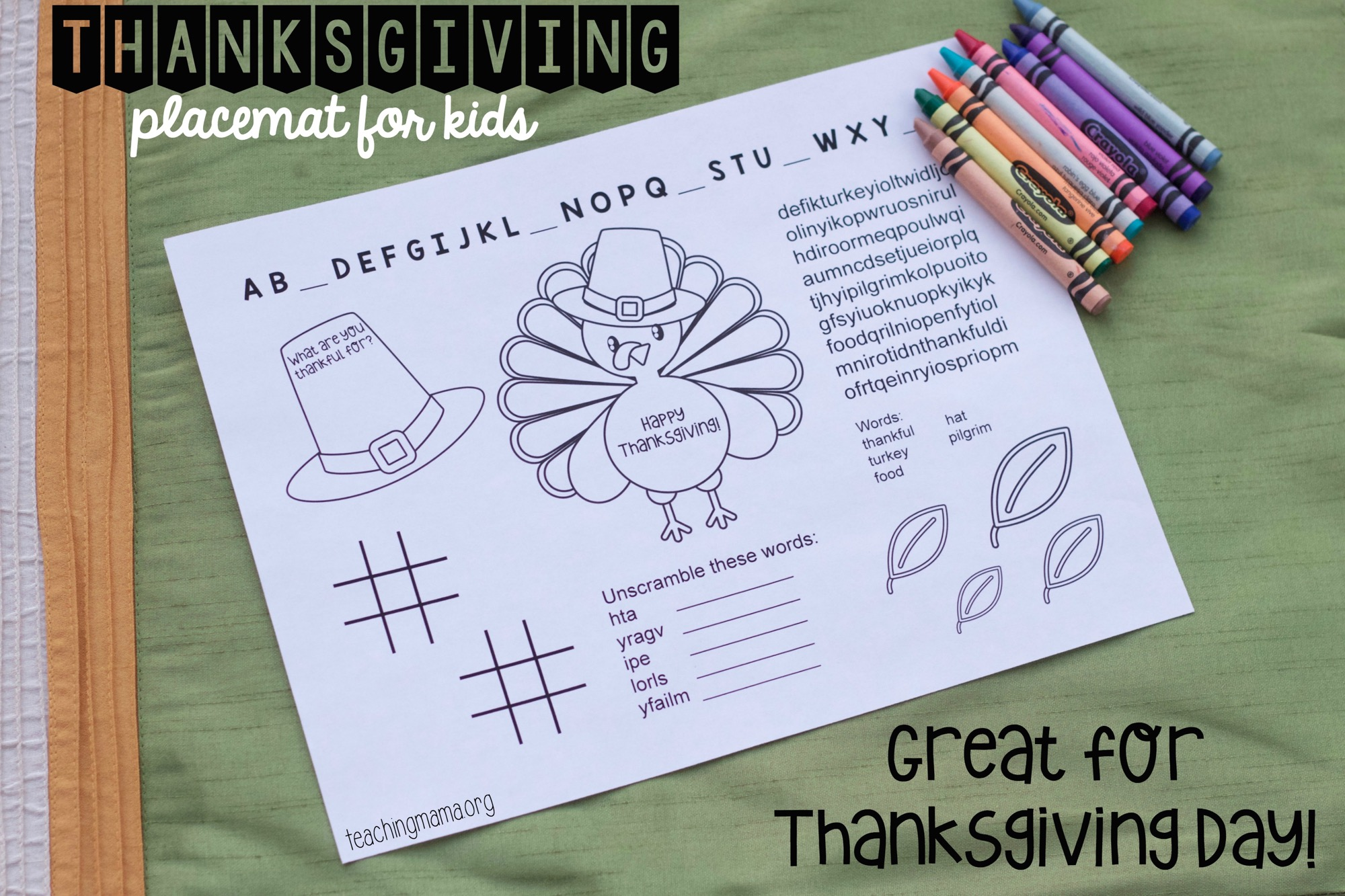 Writing Prompts For Kids About Thanksgiving