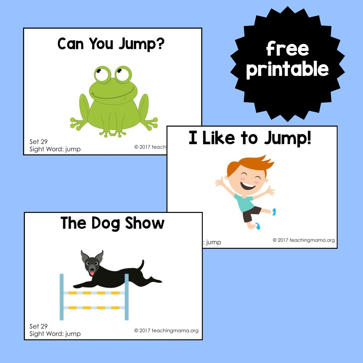 Sight Word Readers For The Word Jump