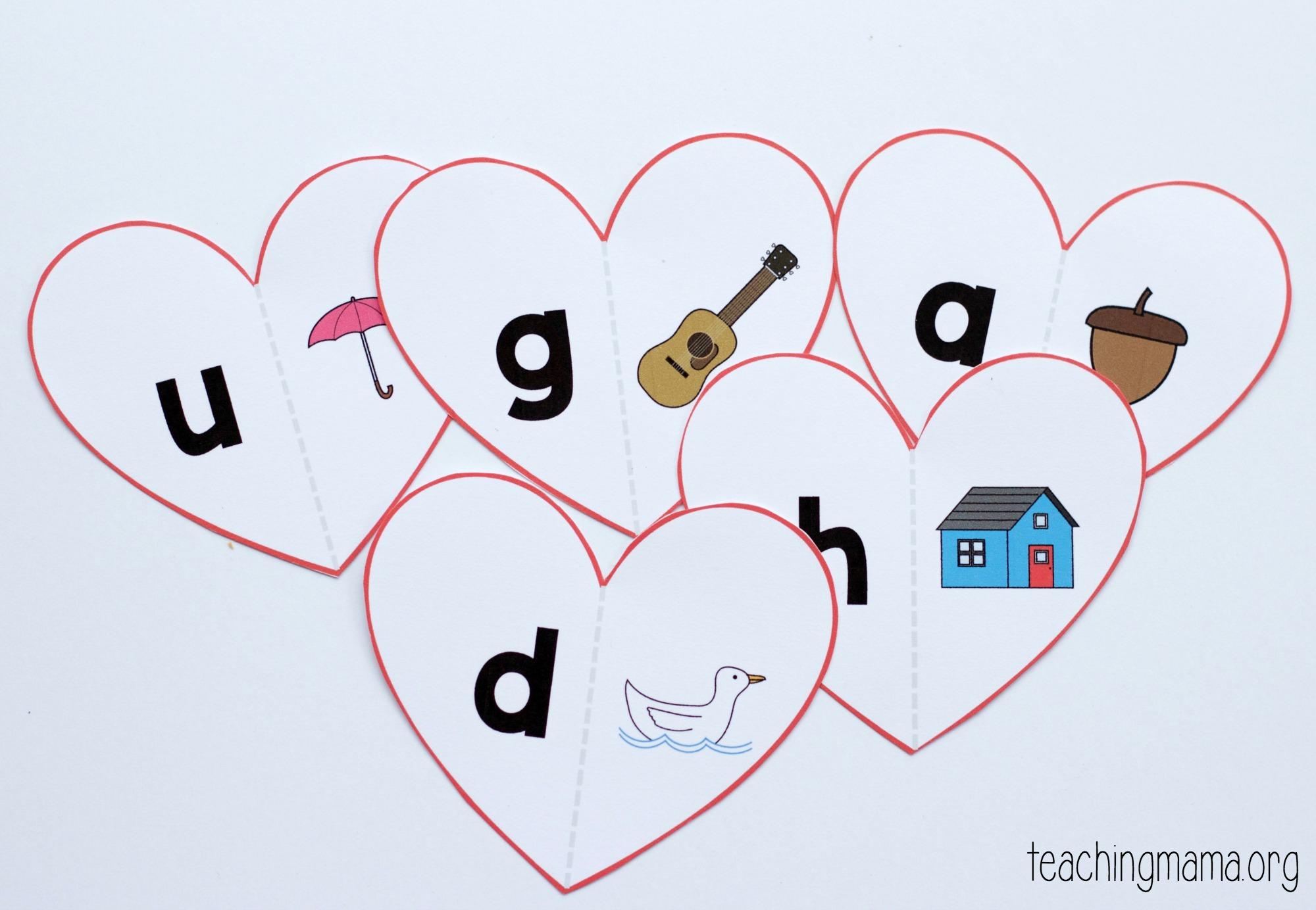 Valentine Beginning Sounds Match