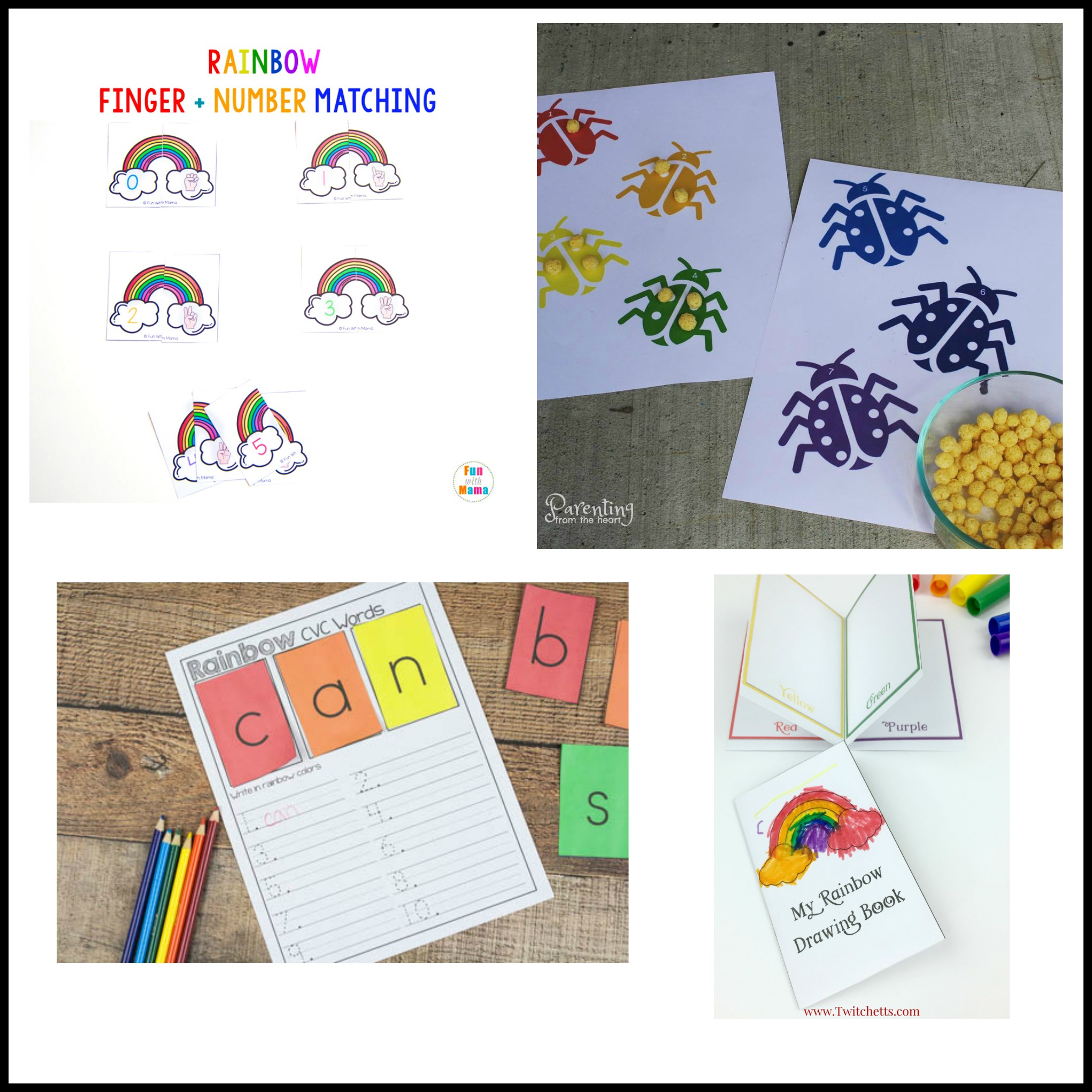 Free Printables All About Rainbows