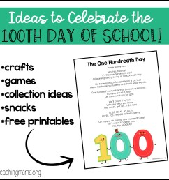 100th Day of School Ideas [ 2038 x 2038 Pixel ]