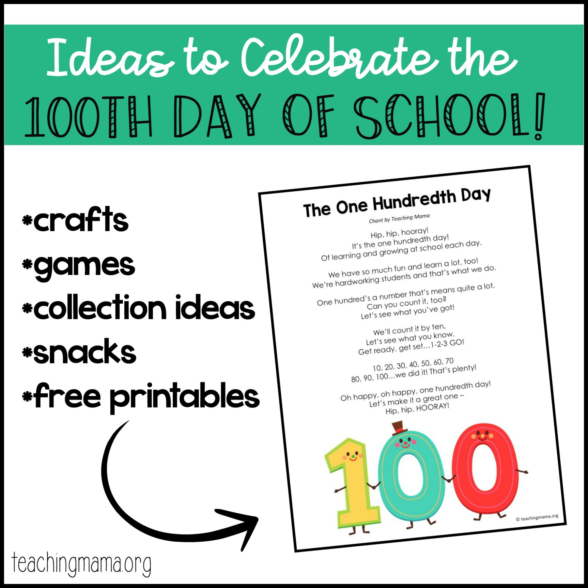 hight resolution of 100th Day of School Ideas
