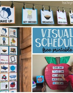 Visual schedule for children free printable also toddlers rh teachingmama