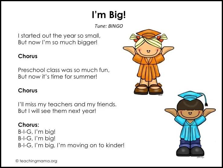 preschool graduation songs free