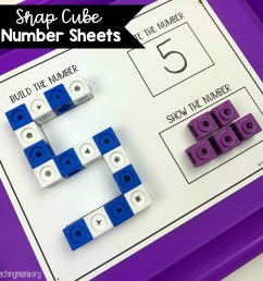 Snap Cube Number Sheets - Teaching Mama [ 1564 x 1564 Pixel ]