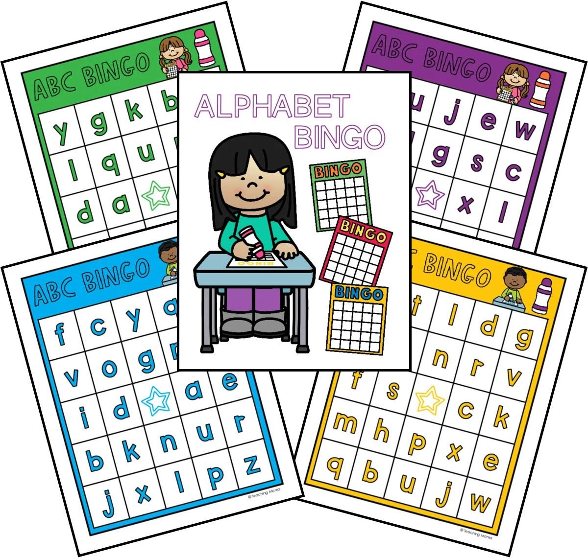 Lowercase Alphabet Bingo Game