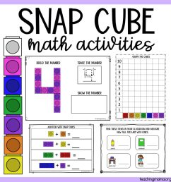 Snap Cube Number Sheets - Teaching Mama [ 1024 x 1024 Pixel ]