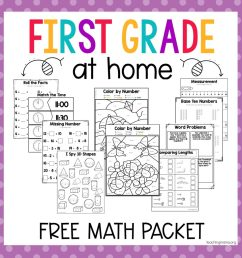 First Grade At Home Math Packet - Teaching Mama [ 1024 x 1024 Pixel ]
