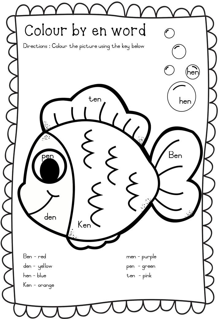 CVC worksheets en words