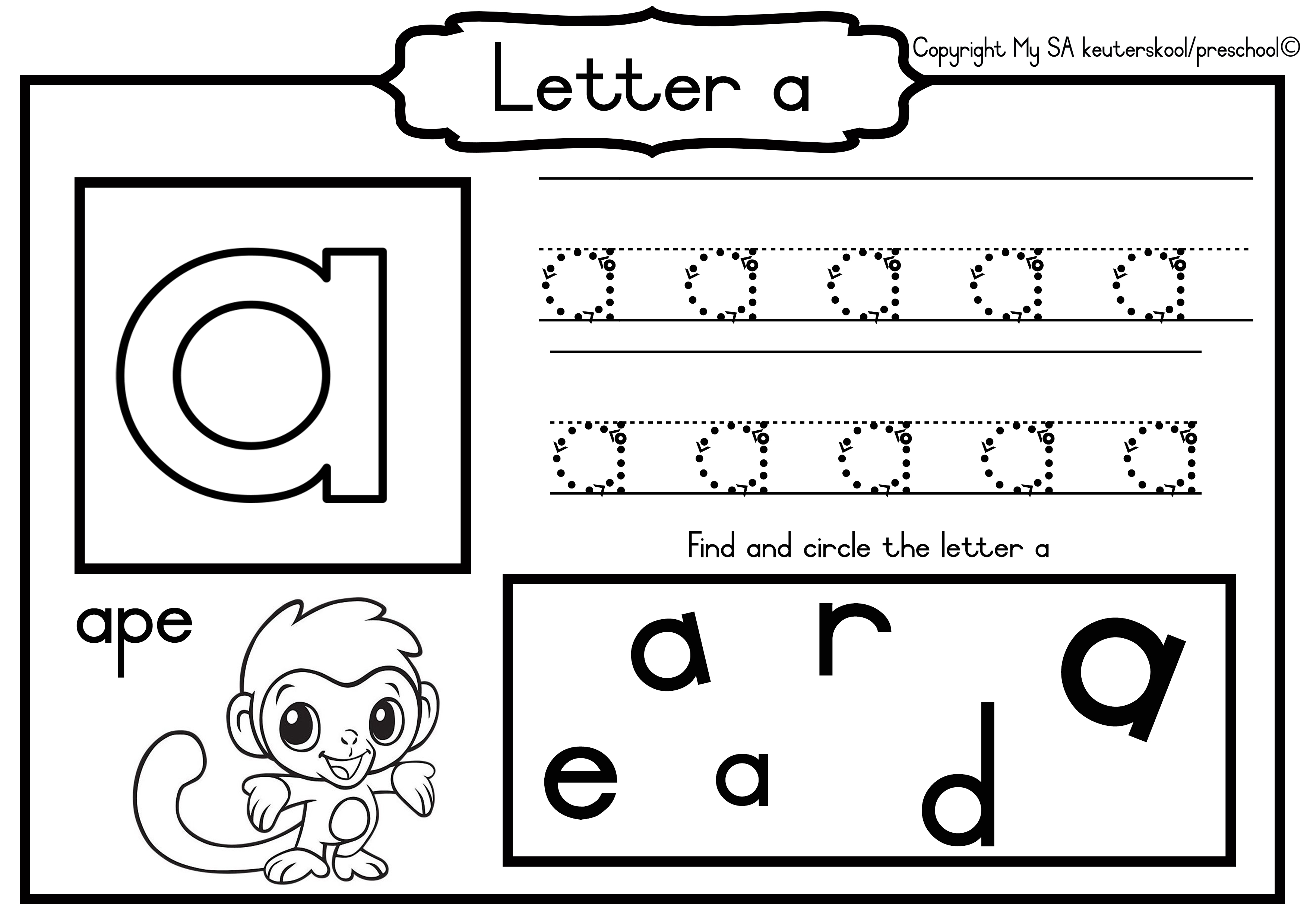 English Alphabet Worksheets 4 5 Years Teacha