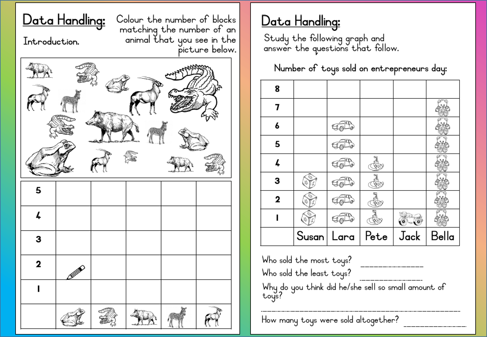 Mathematics Grade 3 Data Handling Worksheet Teacha
