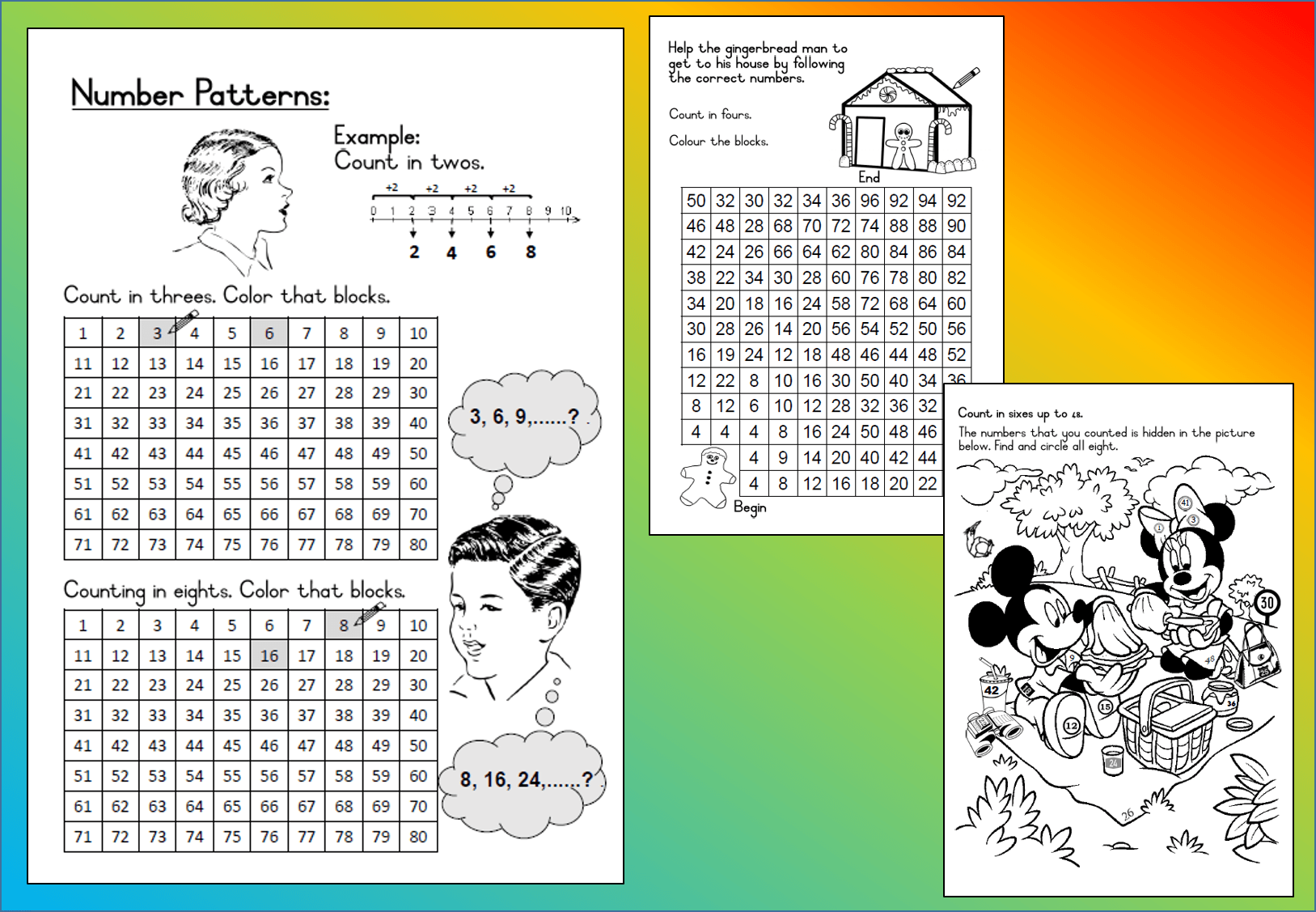 Mathematics Grade 3 Number Patterns Worksheet Teacha